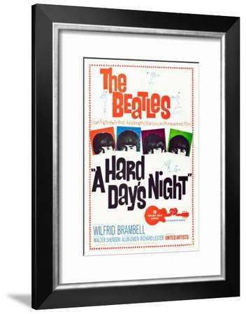 A Hard Day's Night, the Beatles, 1964--Framed Art Print