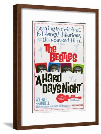A Hard Day's Night, the Beatles, Paul Mccartney, John Lennon, George Harrison, Ringo Starr, 1964