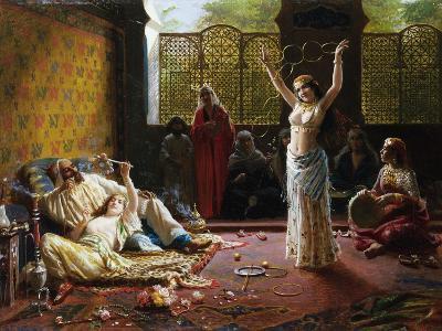 A Harem Scene-Giacomo Mantegazza-Giclee Print