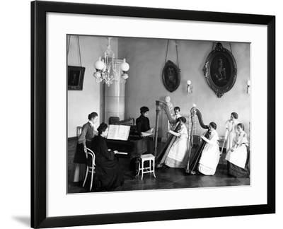 A Harp Lesson at the Smolny Institute--Framed Photographic Print