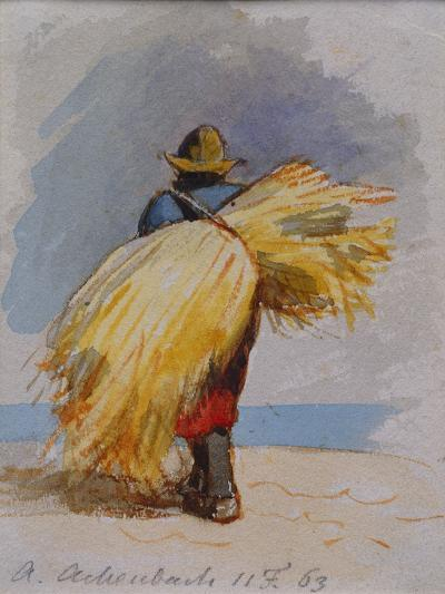 A Harvester, 1863-Andreas Achenbach-Giclee Print