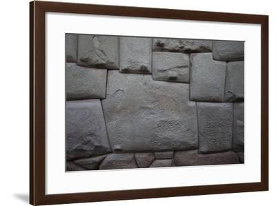 A Hatunrumiyoc Wall Exemplifies Inca Craftsmanship-Michael Melford-Framed Photographic Print