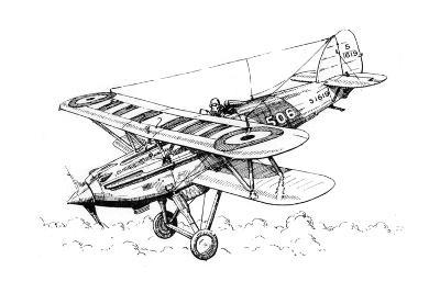 A Hawker Nimrod Aeroplane, C1930S-James Hay Stevens-Giclee Print