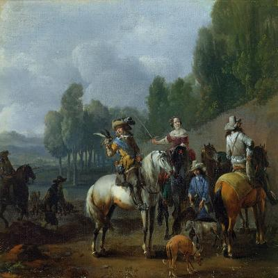 A Hawking Party-Philips Wouwermans Or Wouwerman-Giclee Print
