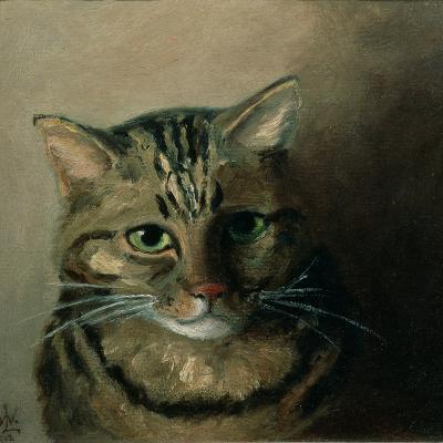 A Head Study of a Tabby Cat-Louis Wain-Giclee Print