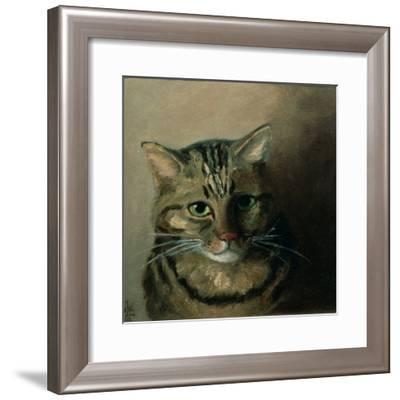 A Head Study of a Tabby Cat-Louis Wain-Framed Giclee Print