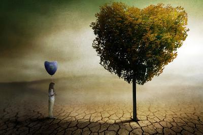 A Heart for the World and Nature.-Ben Goossens-Photographic Print