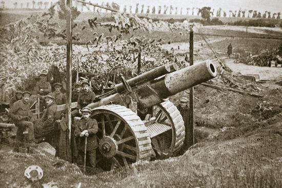 A heavy howitzer, Somme campaign, France, World War I, 1916-Unknown-Photographic Print