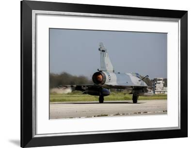 A Hellenic Air Force Mirage 2000 Egm Taking Off from Andravida, Greece-Stocktrek Images-Framed Photographic Print