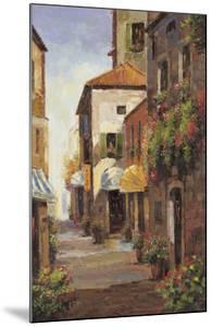 Flowered Alleyway by A Herbert