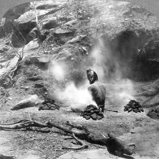 A Hermit Doing Penence at Gem Lake, Mount Abu, India, 1903-Underwood & Underwood-Giclee Print