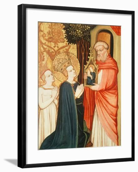 A Hermit with a Picture of the Virgin Mary--Framed Giclee Print