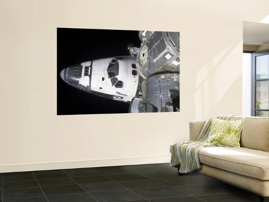 A High-Angle View of the Crew Cabin of Space Shuttle Atlantis--Wall Mural