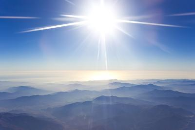 A High, Bright the Sun Over the Foggy Andes Mountains-Mike Theiss-Photographic Print