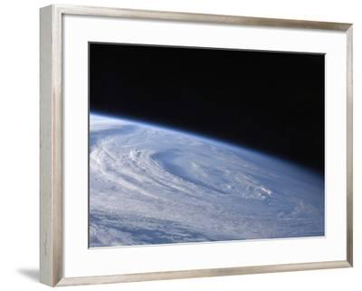 A High-Oblique View of the Extra-Tropical Unnamed Cyclone That Merged with Hurricane Earl-Stocktrek Images-Framed Photographic Print