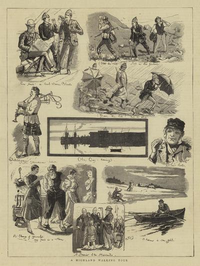 A Highland Walking Tour--Giclee Print
