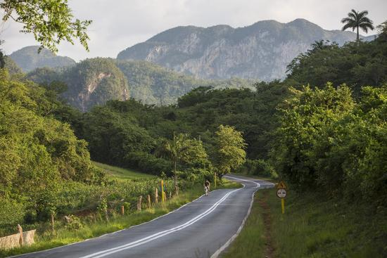A Highway Running from Vinales to San Cayetano Through a Region known for Tobacco Farms-Michael Lewis-Photographic Print