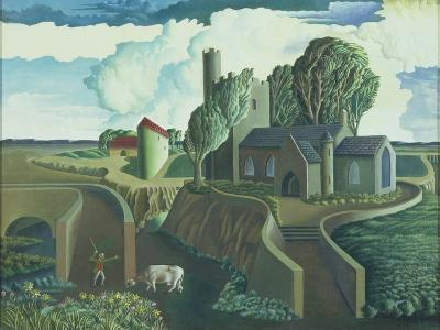 A Hilltop Church, 1930s-George Wright-Giclee Print
