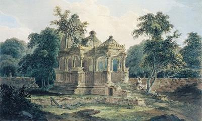 A Hindu Temple in the Fort of Rohtas-Thomas & William Daniell-Premium Giclee Print