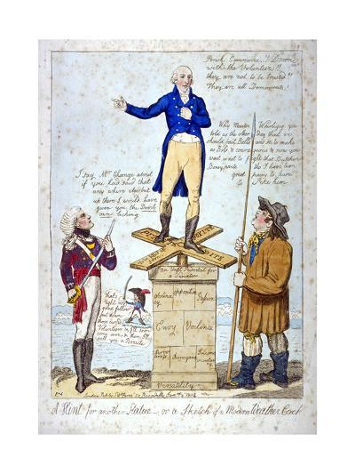 A Hint for Another Statue - Or, a Sketch of a Modern Weather Cock, 1804-Isaac Cruikshank-Giclee Print