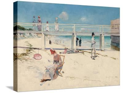 A Holiday at Mentone-Charles Conder-Stretched Canvas Print