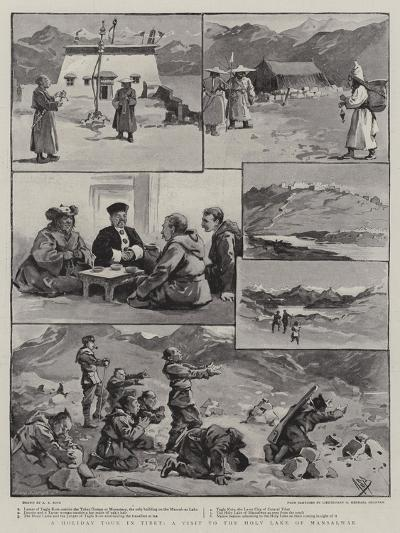 A Holiday Tour in Tibet, a Visit to the Holy Lake of Mansalwar-Alexander Stuart Boyd-Giclee Print