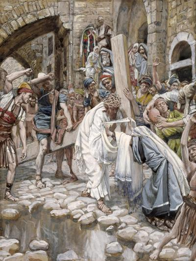 A Holy Woman Wipes the Face of Jesus, Illustration for 'The Life of Christ', C.1886-94-James Tissot-Giclee Print