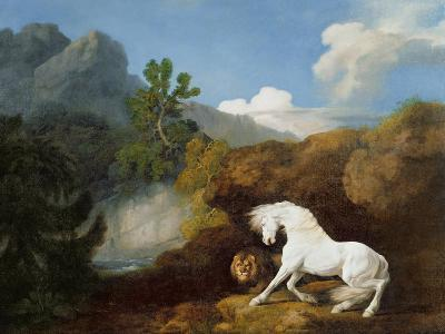 A Horse Frightened by a Lion, 1770-George Stubbs-Giclee Print