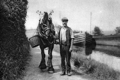 A Horse Pulling a Canal Barge, 1926-1927--Giclee Print