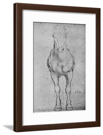 'A Horse Seen from the Front', c1480 (1945)-Leonardo da Vinci-Framed Giclee Print