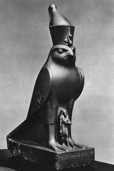 A Horus Falcon with King Nectanebo I (380 Bc-362 B), C370 BC--Giclee Print