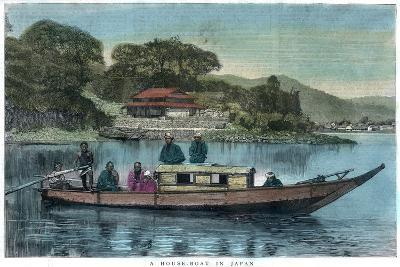 A House-Boat in Japan, 1888--Giclee Print
