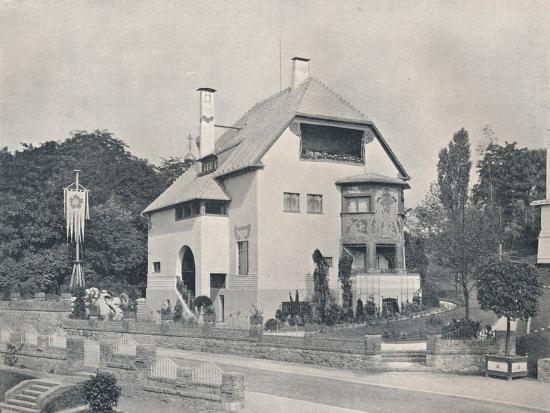 A house designed by Hans Christiansen, c1901 (1901-1902)-Unknown-Photographic Print