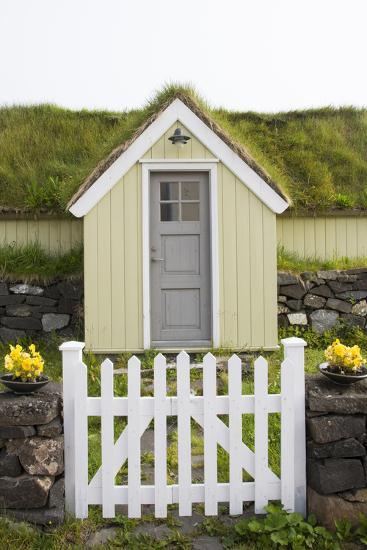 A House in the Town of Husavik Along the North Coast of Iceland-Michael Melford-Photographic Print