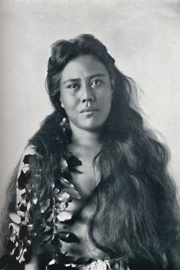 A Hula dancer, Honolulu, Hawaii, 1902-Unknown-Photographic Print