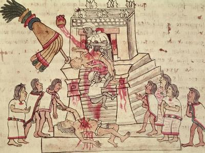 A Human Sacrifice from the Codex Magliabechiano--Giclee Print