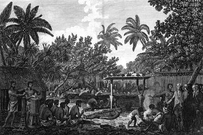 A Human Sacrifice in a Morai, in Otaheite; in the Presence of Captain Cook, C1773-John Webber-Giclee Print