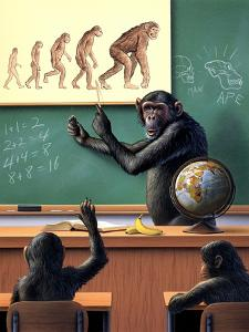 A Humorous View of the Reverse Evolution of Man