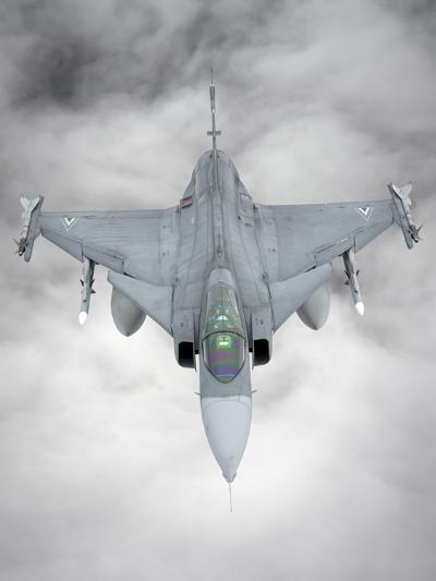A Hungarian Air Force Jas-39 Gripen over Lithuania-Stocktrek Images-Photographic Print