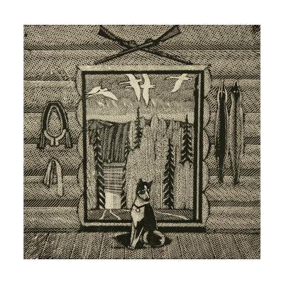 A Hunter's Cabin and His Dog, 2000-Masabikh Akhunov-Giclee Print