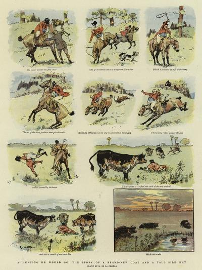 A Hunting He Would Go, the Story of a Brand-New Coat and a Tall Silk Hat--Giclee Print