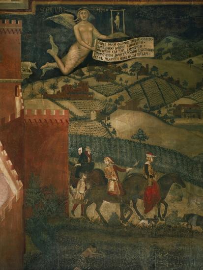 A Hunting Party-Ambrogio Lorenzetti-Giclee Print