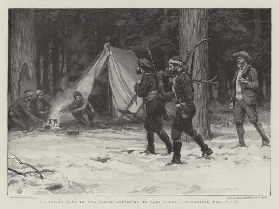 A Hunting Tour in Asia Minor, Returning to Camp after a Successful Deer Stalk-Frank Dadd-Giclee Print