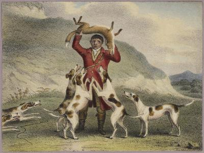 A Huntsman Lifting a Fox Above His Head--Giclee Print