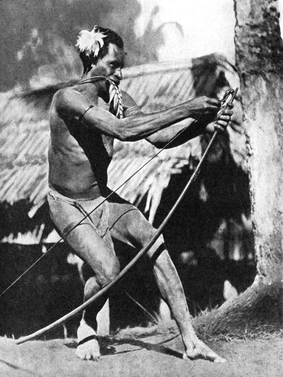 A Huntsman Stringing His Bow, 1936--Giclee Print