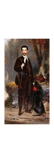 A Huntsman with a Dog-Charles Edouard Boutibonne-Premium Giclee Print