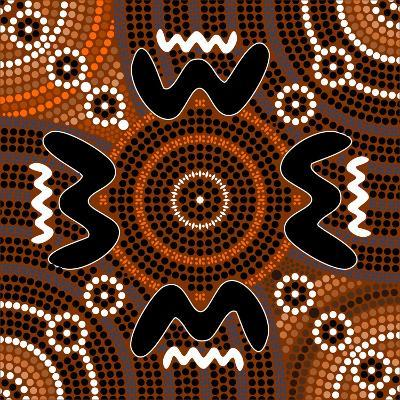 A Illustration Based On Aboriginal Style Of Dot Painting Depicting Difference-deboracilli-Art Print
