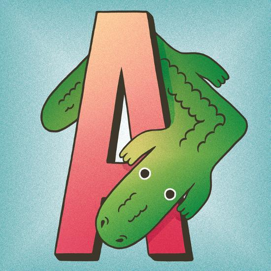 A is for Alligator-Cleonique Hilsaca-Art Print