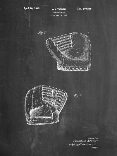 A.J. Turner Baseball Mitt Patent-Cole Borders-Art Print