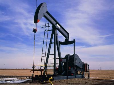 A Jack Pump Used for Oil Extraction-David Parker-Photographic Print